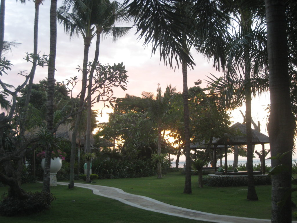 Holiday Inn Baruna Bali at sunset