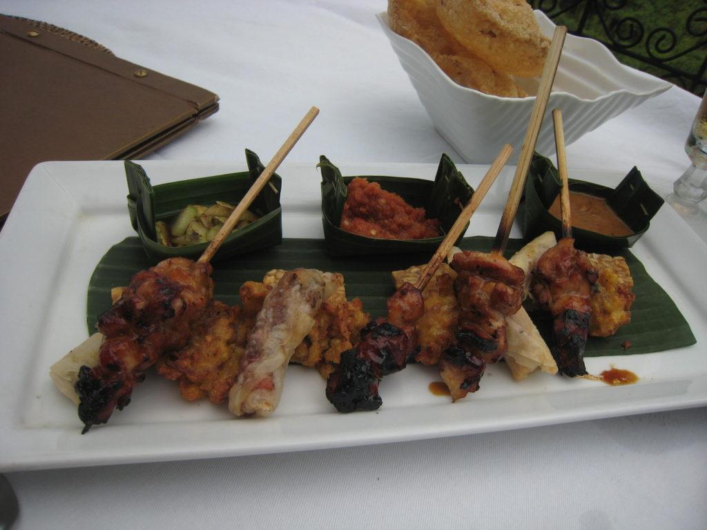 Skewers of meat, Ubud, Bali