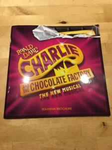 Brochure from Charlie and the Chocolate Factory the musical