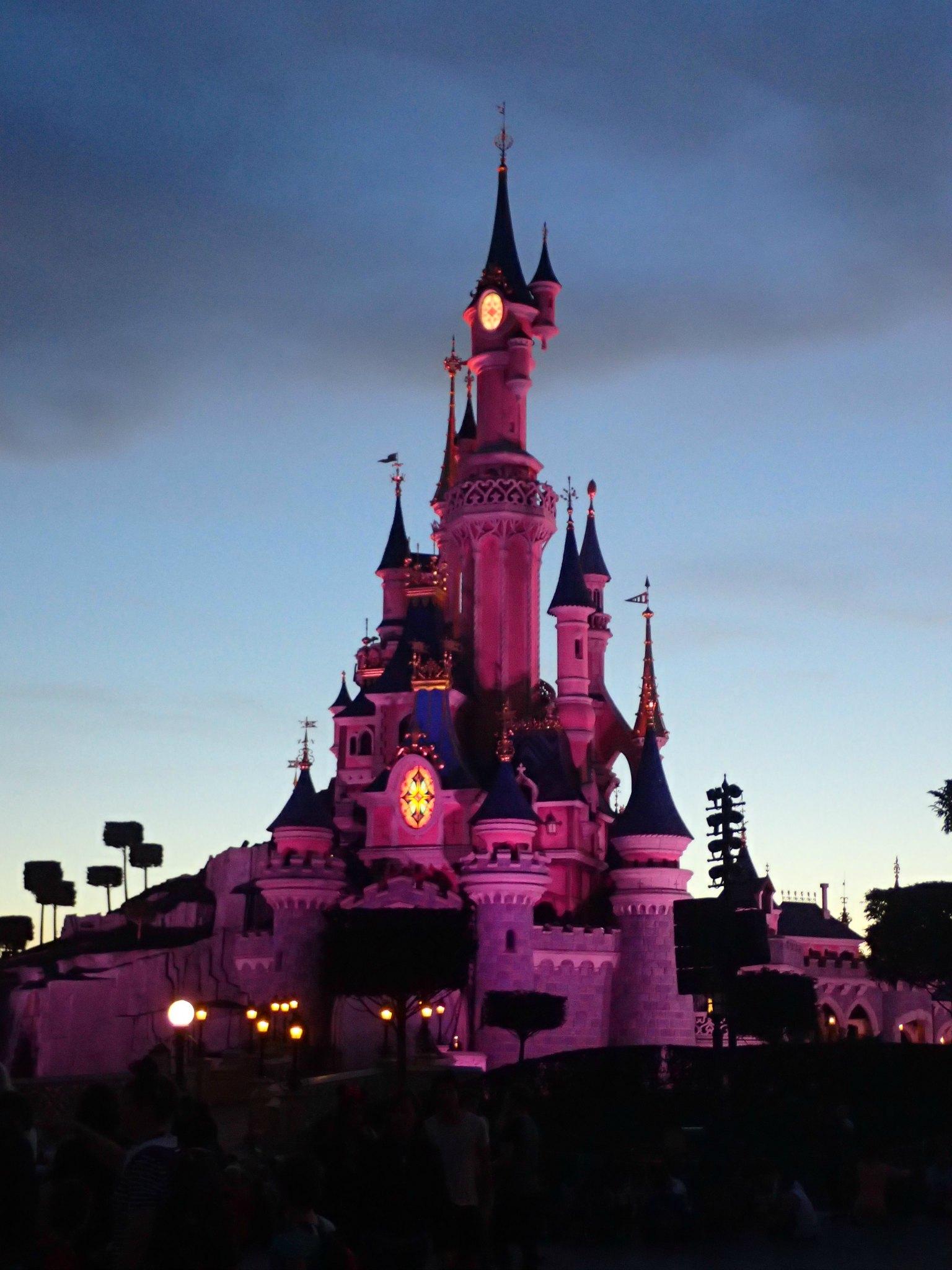 Disney castle by night