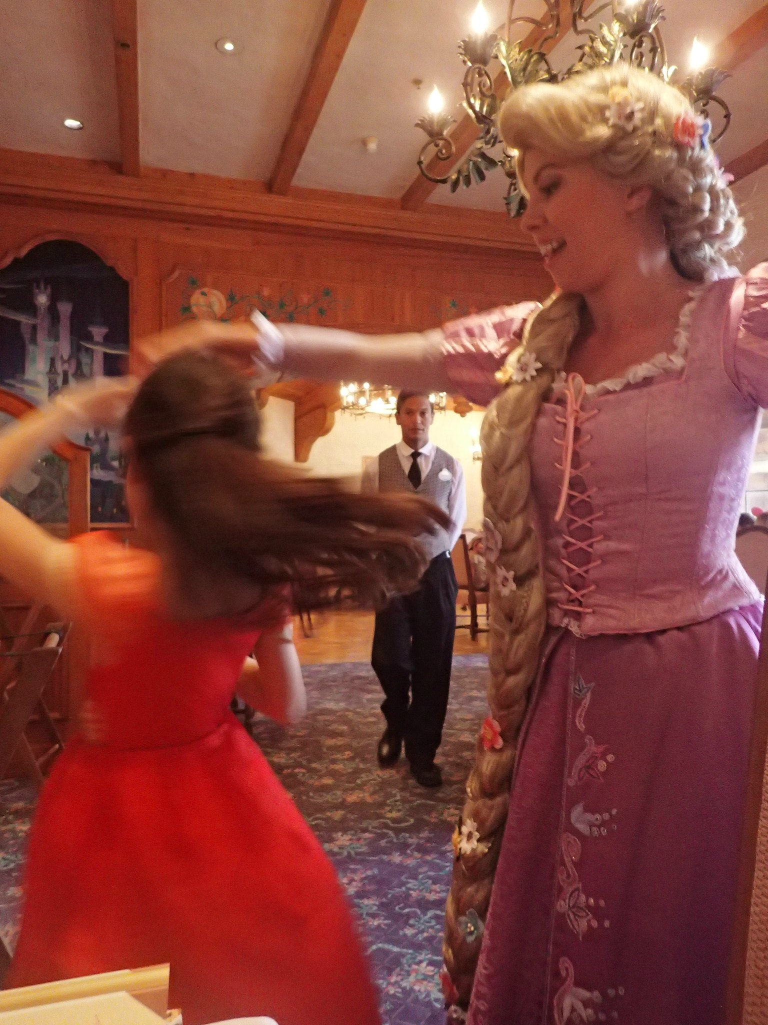 Meeting Rapunzel at Auberge de Cendrillon Restaurant