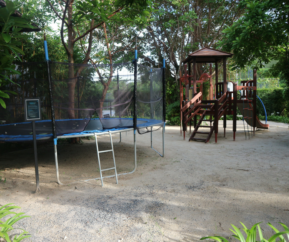 Playground outside the Tin Box kids clu
